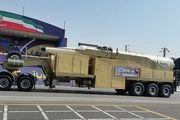 نمایش سرجنگی جدید موشک خرمشهر در رژه 31 شهریور