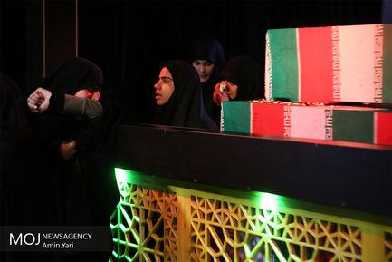وداع با پیکر شهید مدافع حرم میثم نظری
