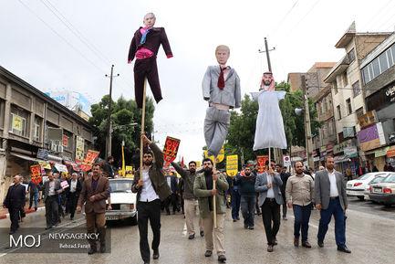 راهپیمایی نمازگزاران در اعتراض به خروج آمریکا از برجام