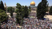 درگیری بین نمازگزاران فلسطینی و نیروهای پلیس رژیم اسرائیل