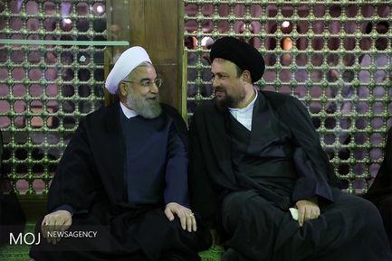 تجدید میثاق رییس جمهور با آرمان های امام راحل