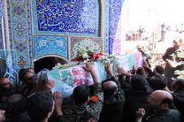 پیکر مامور نیروی انتظامی در شهر بندر امام خمینی(ره) تشییع شد