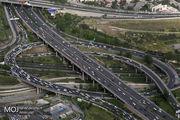 وضعیت ترافیکی بزرگراه های تهران در صبح ۲۰ آبان