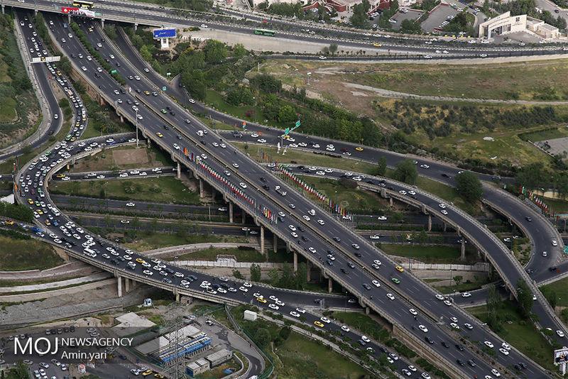 وضعیت ترافیکی بزرگراه های در صبح روز 30 مهر