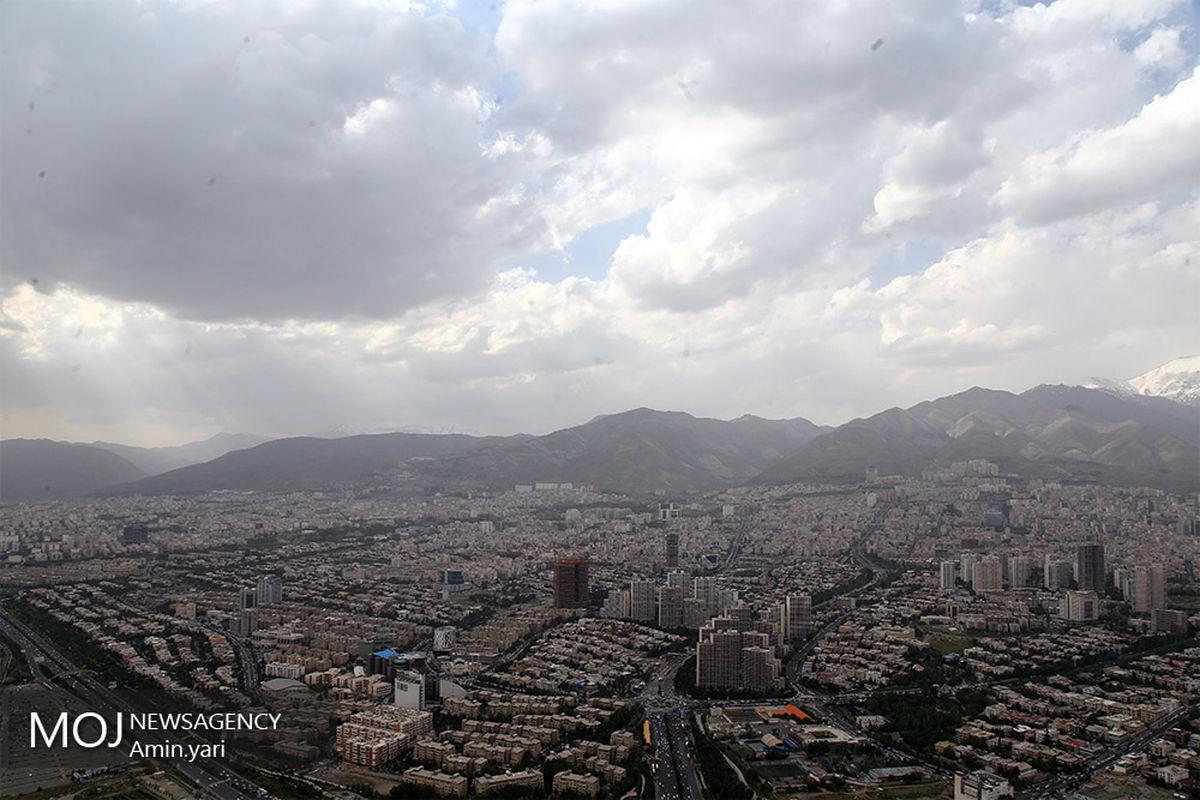 کیفیت هوای تهران ۱۸ آبان ۹۹/ شاخص کیفیت هوا به ۵۹ رسید