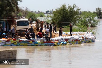 زیر آب رفتن روستاهای دشت آزادگان خوزستان