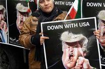 ترامپ در مرکز تظاهرات ضدآمریکایی در ایران بود