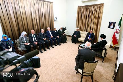 دیدار مقام معظم رهبری با نخستوزیر سوئد