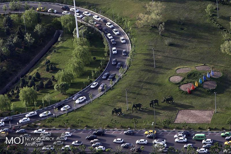 وضعیت ترافیکی بزرگراههای تهران در 21 اردیبهشت