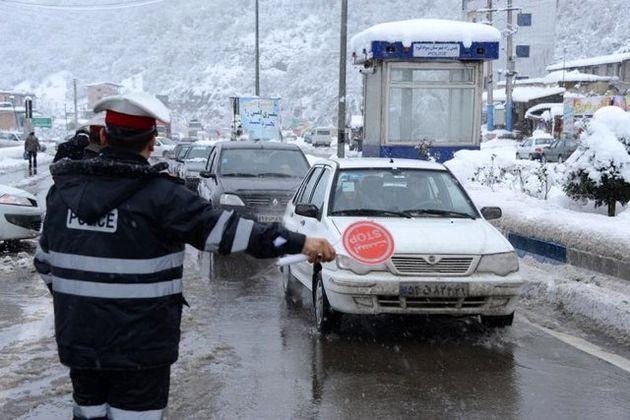 14 استان درگیر برف و باران/ محورهای هراز و چالوس مسدود