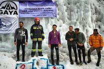 آتشنشان اصفهانی روی سکوی اولی ایستاد