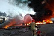 انفجار یکی از مخازن ضایعات نفتی پالایشگاه تهران بر اثر استمرار آتش