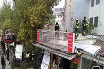 آتش سوزی در بازارچه تختی رشت یک مصدوم برجا گذاشت