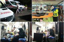 24 مصدوم در اثر واژگونی اتوبوس حامل زائران اصفهانی