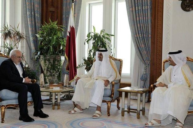 محمد جواد ظریف با امیر قطر دیدار  و گفت و گو کرد