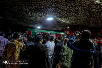 وداع با پیکر شهید مدافع حرم علی سعد