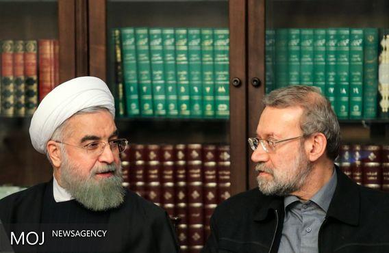 روحانی و لاریجانی؛ سخنرانان نشست مشترک دولت و مجلس