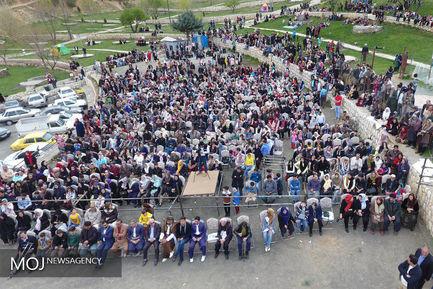 جشن نوروزی در دامنه کوه آبیدر سنندج