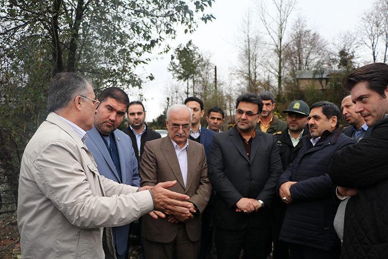 بازدید رئیس سازمان بنیاد مسکن کشور از سیل زده شهرستان شفت