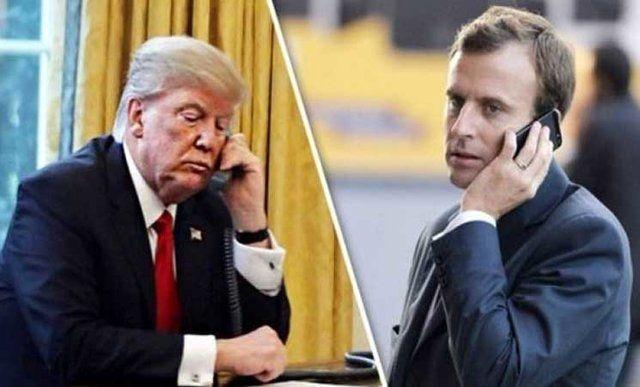جزئیات گفتگوی تلفنی ترامپ و رئیس جمهوری فرانسه