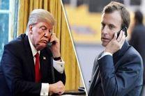 ترامپ و مکرون درباره ایران گفت و گو کردند