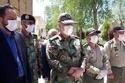 بازدید فرمانده توپخانه 44 ارتش از نقاهتگاه بیماران کرونایی در خمینی شهر