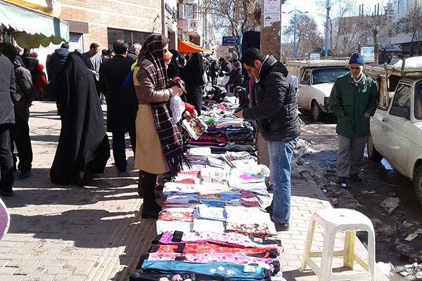 ساماندهی دستفروشان کرمانشاه در آستانه سال جدید/ برخورد دستفروشان خیابان مدرس