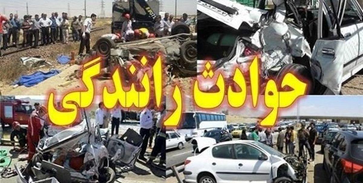 واژگونی مرگبار یک دستگاه اتوبوس در اصفهان