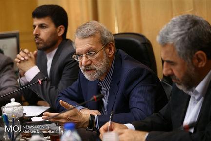 جلسه  کمیسیون تدوین آیین نامه داخلی مجلس با حضور علی لاریجانی