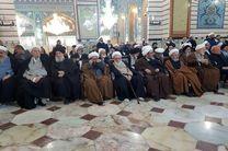 وداع مراجع اعظام تقلید با پیکر شهید سردار سلیمانی