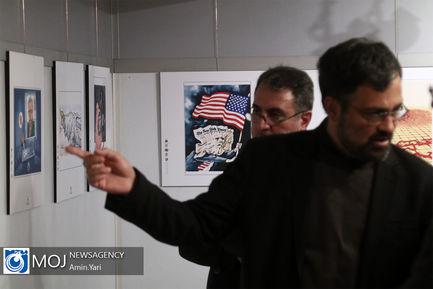 افتتاح دومین نمایشگاه کاریکاتور ترامپیسم