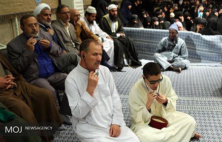 دیدار شرکت کنندگان در مسابقات بینالمللی قرآن با مقام معظم رهبری