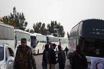 خروج بیش از 900 تن از عناصر مسلح و خانوادههایشان از «حیالوعر» به سمت ادلب