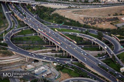 نمای شهر تهران از بالای برج میلاد