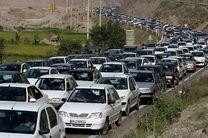 یک طرفه شدن جاده هراز و چالوس از ساعت ۱۳ امروز / ترافیک نیمه سنگین جاده های شمالی