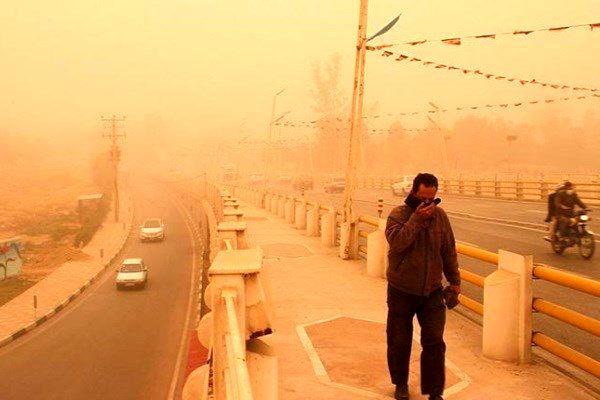 گرد و غبار در اهواز به  میزان 510 میکروگرم رسید