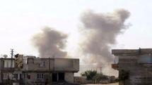 انفجار تروریستی در شهر بنش در ریف ادلب سوریه