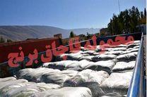 ۴۵ تن برنج قاچاق در شهرستان باوی کشف وضبط شد