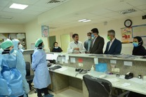 بازدید فرماندار یزد از بخش های مختلف بیمارستان شهید صدوقی یزد