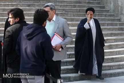 حاشیه جلسه هیات دولت - ۳ بهمن ۱۳۹۷/سید محمود علوی وزیر اطلاعات