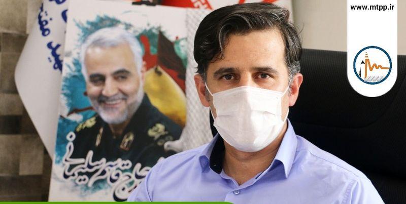 پنجمین مرحله توزیع اقلام بهداشتی در راستای کنترل کرونایی در  نیروگاه شهید مفتح