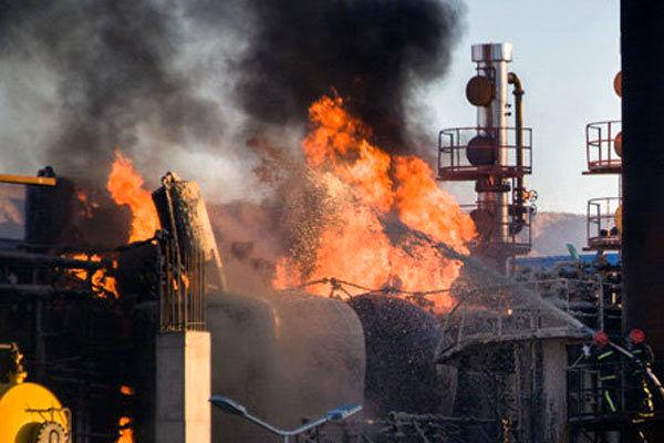 آخرین وضعیت آتش سوزی در پتروشیمی بندر امام اعلام شد