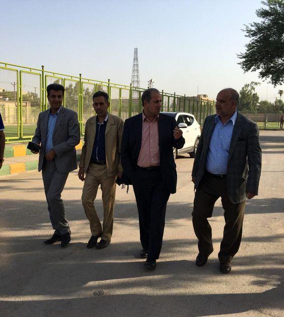 رئیس فدراسیون فوتبال از اماکن ورزشی اهواز بازدید کرد