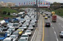 ترافیک سنگین در آزادراههای قزوین-کرج و ساوه-تهران