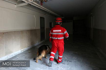 مانور زلزله در خوابگاه دختران دانشگاه پزشکی