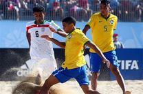 تیم ملی فوتبال ساحلی ایران مقابل برزیل مغلوب شد