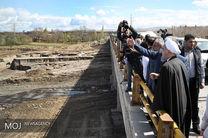 رئیس جمهور از منطقه سیل زده غله زار آذرشهر بازدید کرد