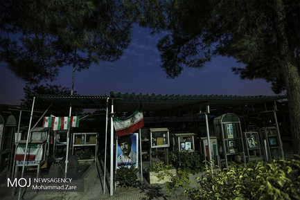 شب ششم ماه محرم در کنار مزار شهدا