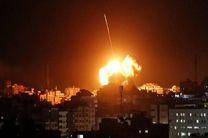 حمله جنگنده های رژیم صهیونیستی به جنوب نوار غزه