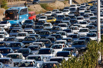 ترافیک در آزادراه کرج-تهران سنگین است/ بارش باران در 5 استان کشور